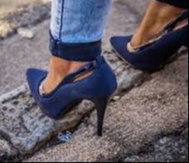 High heels and Broken Asphalt Pavement- Dangerous Charlotte NC Paving